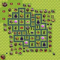 Base plan (layout), Town Hall Level 10 for farming (variant 58)