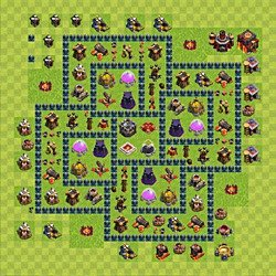Base plan (layout), Town Hall Level 10 for farming (variant 59)