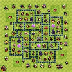 Base plan (layout), Town Hall Level 10 for farming (variant 62)