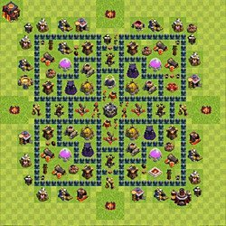 Base plan (layout), Town Hall Level 10 for farming (variant 64)