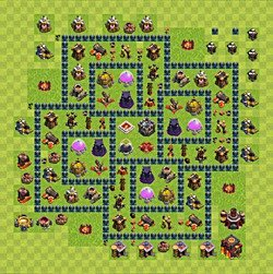 Base plan (layout), Town Hall Level 10 for farming (variant 65)