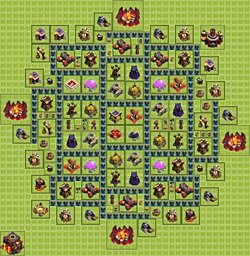 Base plan (layout), Town Hall Level 10 for farming (variant 8)