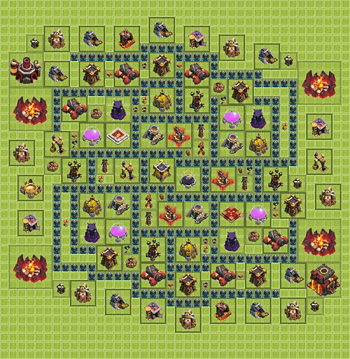 Best bases layouts (plans) for Clash of Clans - TH 10 / Town Hall