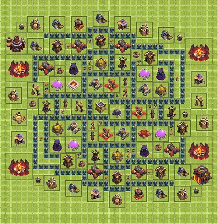 Farming base plan (layout / design) TH 10 - Clash of Clans