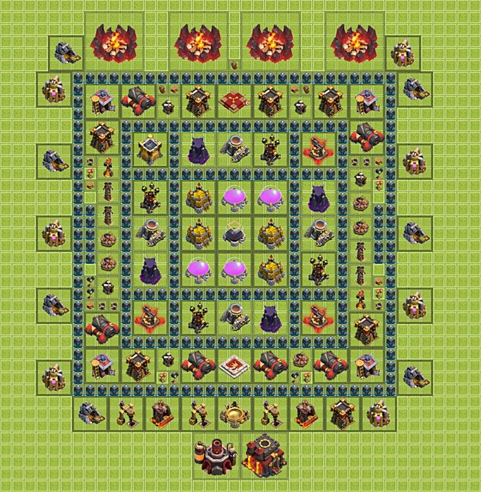Best farming base layouts for Clash Clans