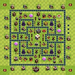 Base plan (layout), Town Hall Level 11 for trophies (defense) (variant 4)