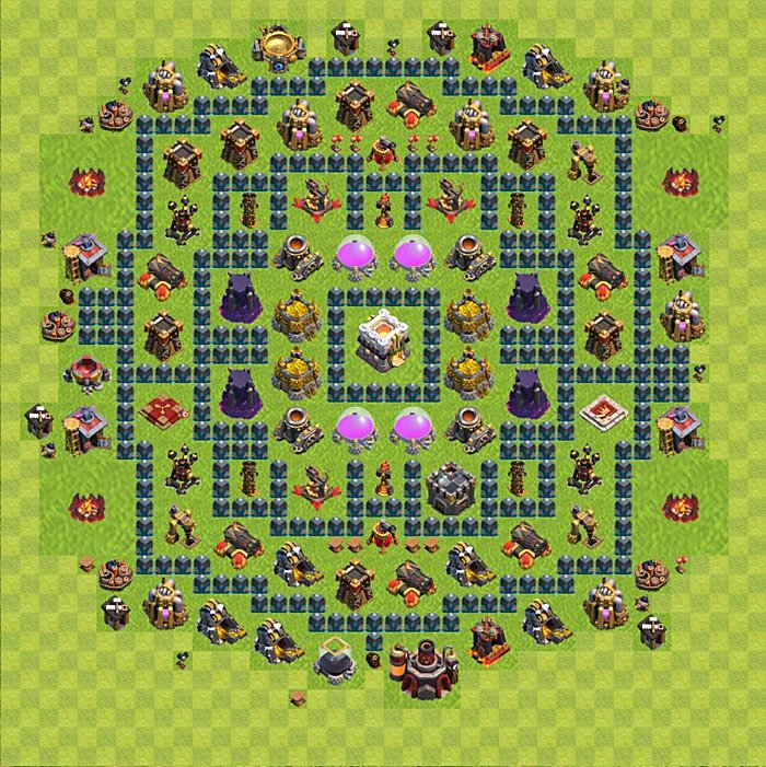 Base plan for trophies collection in TH 11, variant 1