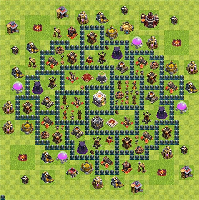 Base plan for trophies collection in TH 11, variant 3