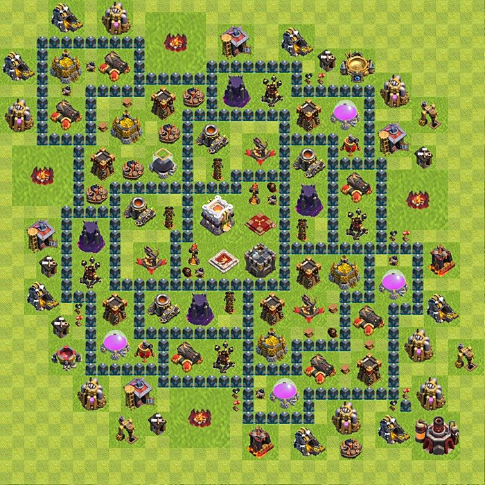 Base plan for trophies collection in TH 11, variant 5