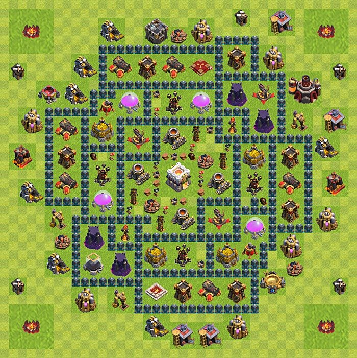 Base plan for trophies collection in TH 11, variant 6