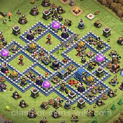 Base plan (layout), Town Hall Level 12 for farming (#6)