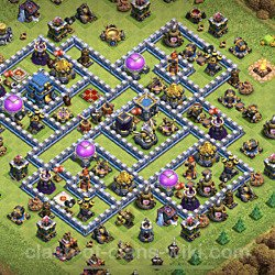 Base plan (layout), Town Hall Level 12 for farming (#7)