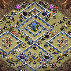 Base plan (layout), Town Hall Level 12 for clan wars (#1)