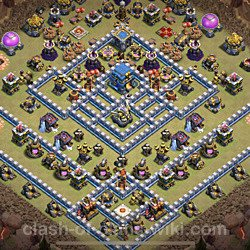 Base plan (layout), Town Hall Level 12 for clan wars (#2)