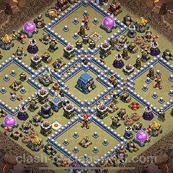 Base plan (layout), Town Hall Level 12 for clan wars (#30)