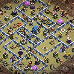 Base plan (layout), Town Hall Level 12 for clan wars (#31)