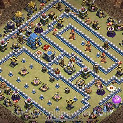 Base plan (layout), Town Hall Level 12 for clan wars (#32)