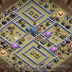 Base plan (layout), Town Hall Level 12 for clan wars (#4)