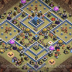 Base plan (layout), Town Hall Level 12 for clan wars (#5)
