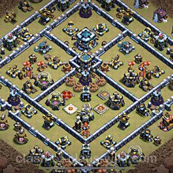 Base plan (layout), Town Hall Level 13 for clan wars (#74)
