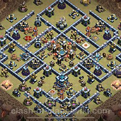 Base plan (layout), Town Hall Level 13 for clan wars (#75)