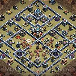 Base plan (layout), Town Hall Level 13 for clan wars (#76)