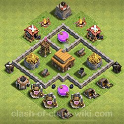 Base plan (layout), Town Hall Level 3 for trophies (defense) (#138)