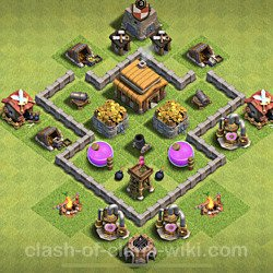 Base plan (layout), Town Hall Level 3 for trophies (defense) (#140)