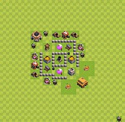 Base plan (layout), Town Hall Level 3 for farming (variant 24)