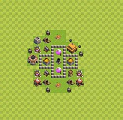 Base plan (layout), Town Hall Level 3 for farming (variant 25)