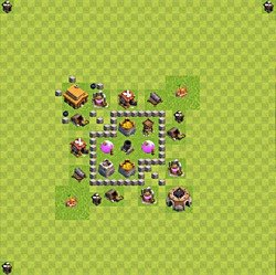 Base plan (layout), Town Hall Level 3 for farming (variant 34)