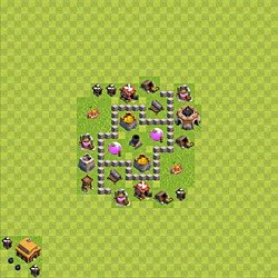 Base plan (layout), Town Hall Level 3 for farming (variant 35)