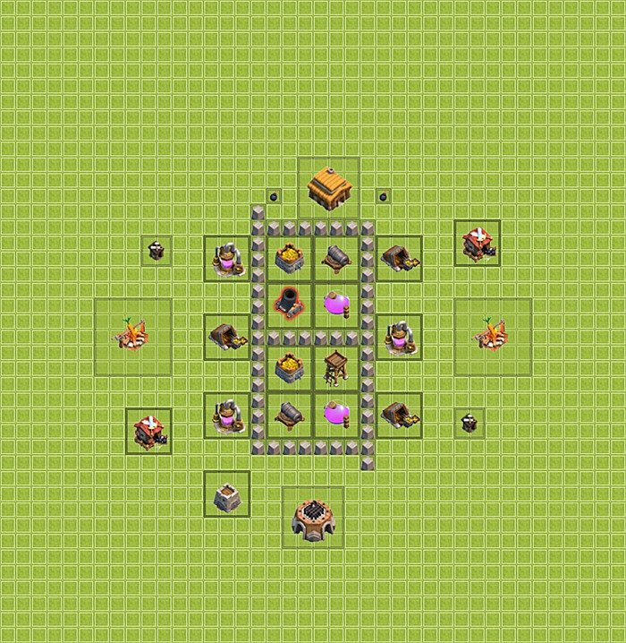 Farming base plan (layout / design) TH 3 - Clash of Clans