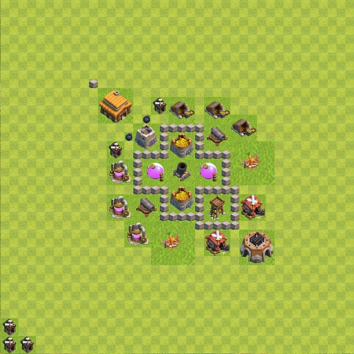 Base plan (design / layout) for Farming on TH 3, variant 33