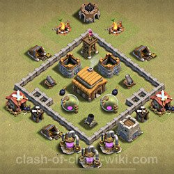 Base plan (layout), Town Hall Level 3 for clan wars (#23)