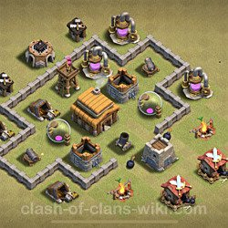 Base plan (layout), Town Hall Level 3 for clan wars (#24)