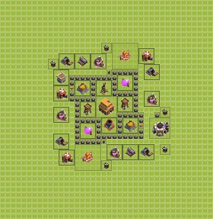 Base Untuk Coc Th 4 2