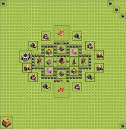 Base plan (layout), Town Hall Level 4 for farming (variant 1)