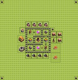 Base plan (layout), Town Hall Level 4 for farming (variant 2)