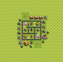 Base plan (layout), Town Hall Level 4 for farming (variant 27)