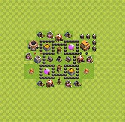 Base plan (layout), Town Hall Level 4 for farming (variant 28)