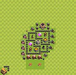 Base plan (layout), Town Hall Level 4 for farming (variant 29)
