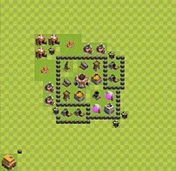 Base plan (layout), Town Hall Level 4 for farming (variant 30)
