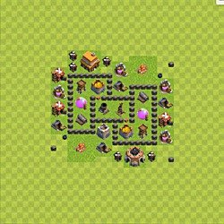 Base plan (layout), Town Hall Level 4 for farming (variant 48)
