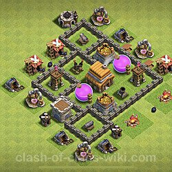 Base plan (layout), Town Hall Level 4 for farming (#59)