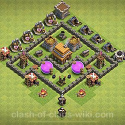 Base plan (layout), Town Hall Level 4 for farming (#60)