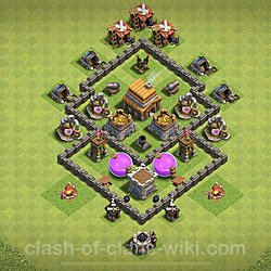 Base plan (layout), Town Hall Level 4 for farming (#62)