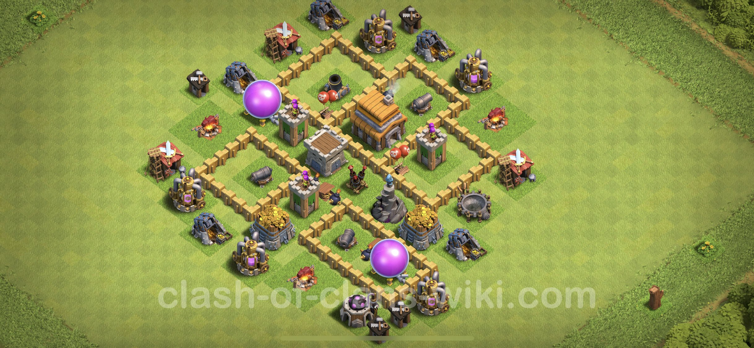 Best Base TH5 with Link Anti Everything - Town Hall Level 5 Base Copy -  (#265)