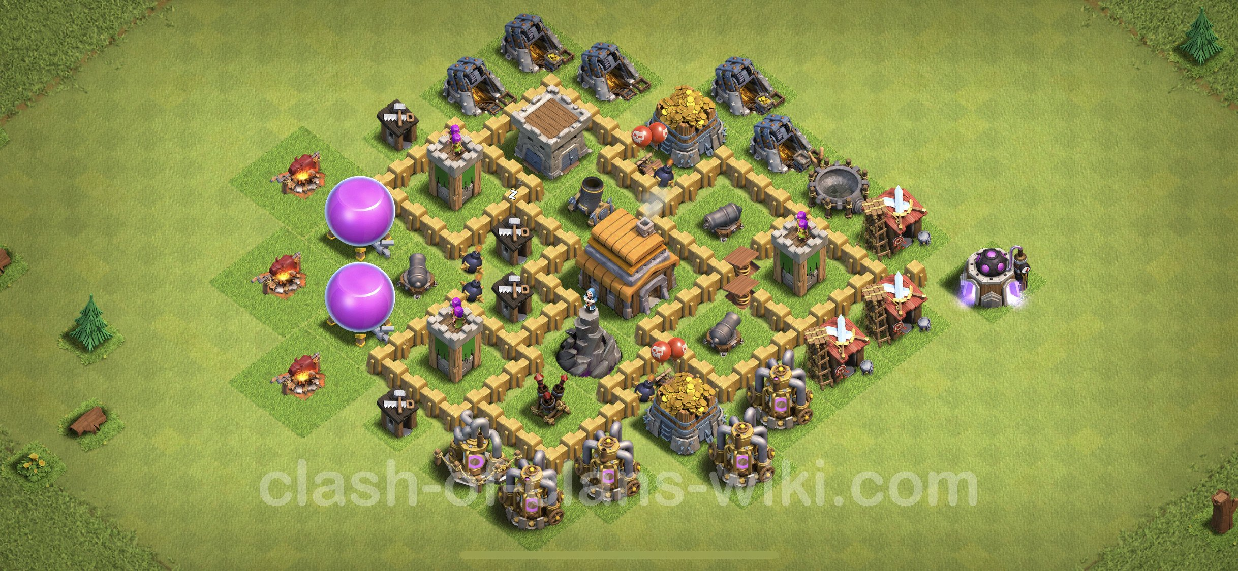 Best Anti 3 Stars Base TH5 with Link - Town Hall Level 5 Base Copy - (#83)