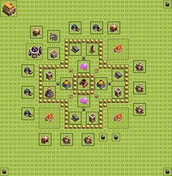 Base plan (layout), Town Hall Level 5 for farming (variant 2)